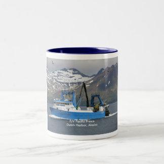 Pacific Prince, Fishing Trawler in Dutch Harbor Two-Tone Coffee Mug