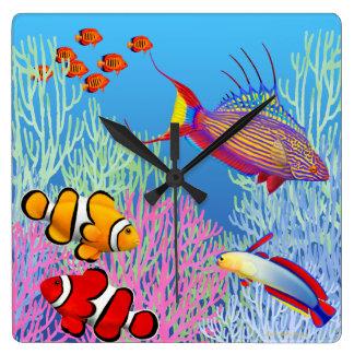 Pacific Reef Marine Fish Wall Clock