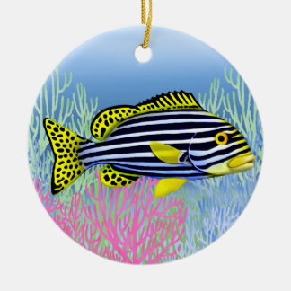 Pacific Reef Oriental Sweetlips Fish Ornament