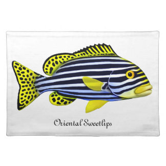 Pacific Reef Oriental Sweetlips Fish Placemat