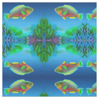 Pacific Reef Parrot fish Fabric