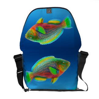 Pacific Reef Parrotfish Rickshaw Messenger Bag