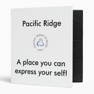 Pacific ridge School  binder