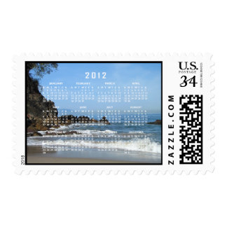 Pacific Rolling In; 2012 Calendar Postage Stamp