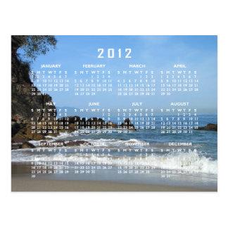 Pacific Rolling In; 2012 Calendar Postcard