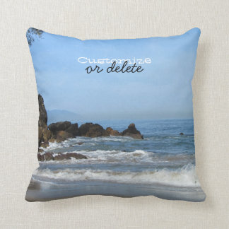 Pacific Rolling In; Customizable Throw Pillow