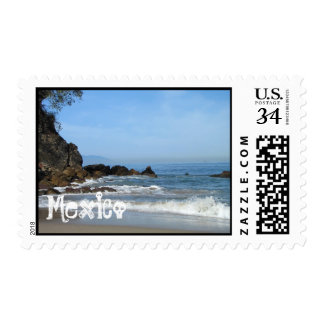 Pacific Rolling In; Mexico Souvenir Stamp