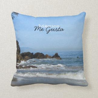 Pacific Rolling In; Mexico Souvenir Throw Pillows