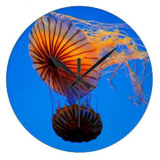 Pacific Sea Nettle (Chrysaora Fuscescens) Large Clock