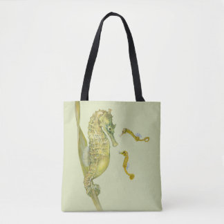 Pacific Seahorse Family Tote Bag