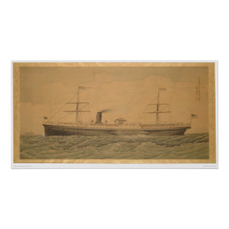 Pacific Steamship Sacramento (1607A) Poster
