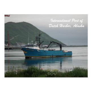 Pacific Sun Bering Sea Crab Fishing Fleet Postcard