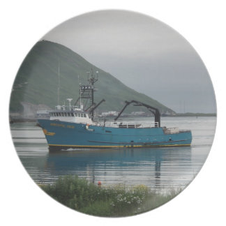 Pacific Sun Crab Fishing Boat in Dutch Harbor AK Plates
