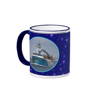 Pacific Sun, Dutch Harbor, Alaska Ringer Mug