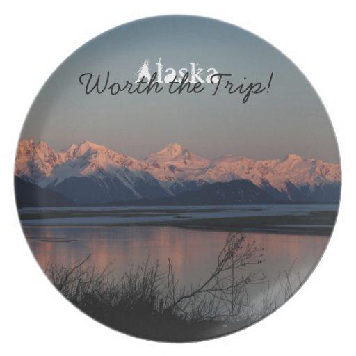 Pacific Sunset; Alaska Souvenir Party Plate