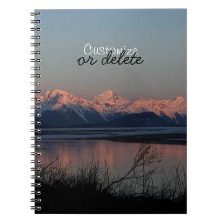 Pacific Sunset; Customizable Spiral Notebook