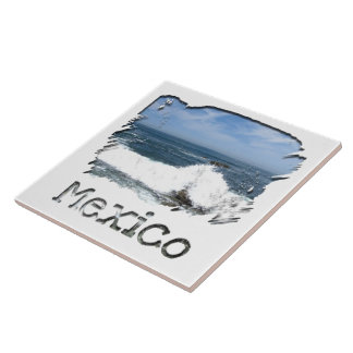 Pacific Taking Over; Mexico Souvenir Ceramic Tiles