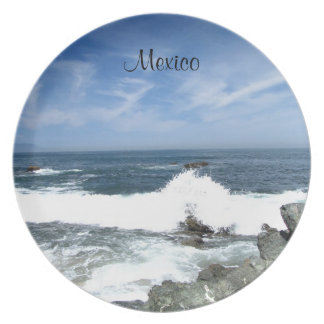 Pacific Taking Over; Mexico Souvenir Dinner Plate