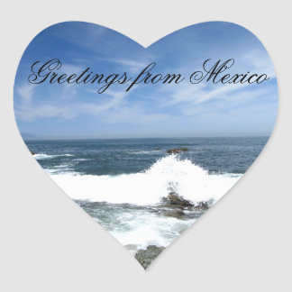 Pacific Taking Over; Mexico Souvenir Heart Sticker