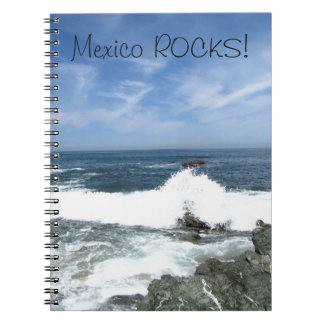 Pacific Taking Over; Mexico Souvenir Spiral Notebooks