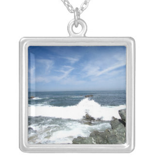 Pacific Taking Over Square Pendant Necklace