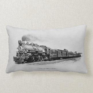 Pacific Type Locomotive in Service B&O Railroad Lumbar Pillow