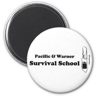 Pacific & Warner Survival School 2 Inch Round Magnet