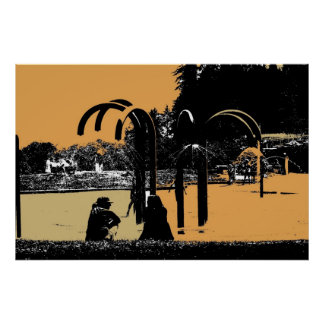 Pacific Waterpark Sunset Poster
