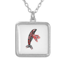 Pacific Whale Watch Silver Plated Necklace