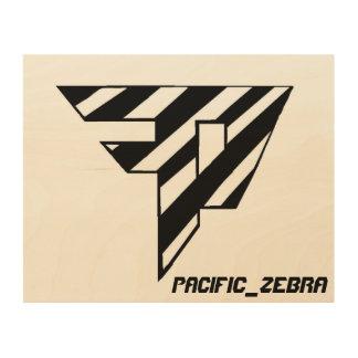 Pacific_Zebra Painting Wood Print