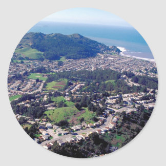 Pacifica California Classic Round Sticker