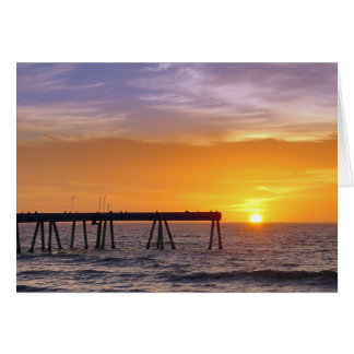 Pacifica Pier Sunset Card