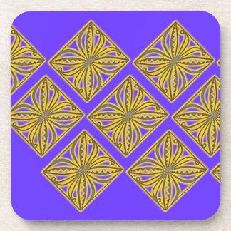 Pacifica Siale de oro en púrpura Posavasos