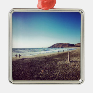Pacifica State Beach Metal Ornament