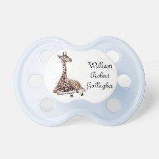 Pacificador adaptable de la jirafa del bebé chupete de bebé