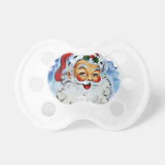 Pacificador alegre de Papá Noel para el niño peque Chupetes Para Bebes