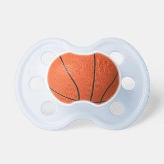 Pacificador azul, blanco, o rosado del baloncesto chupetes de bebe