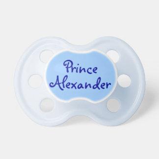 Pacificador azul del bebé de príncipe Personalized Chupetes
