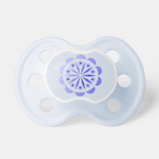 Pacificador azul floral para los bebés chupetes para bebés