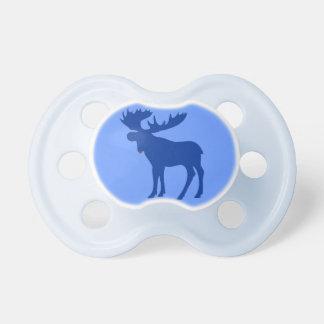 Pacificador azul simple del bebé de los alces chupetes para bebes