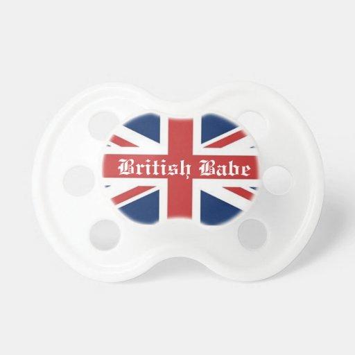 Pacificador británico del bebé chupetes para bebes