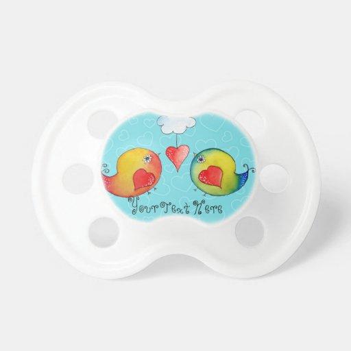 Pacificador caprichoso del personalizable de los chupetes de bebe