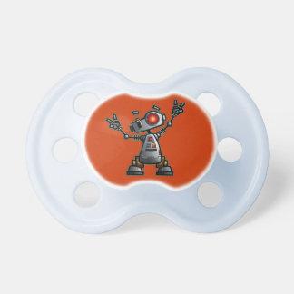 Pacificador con el robot de Diz de la diversión Chupetes Para Bebés
