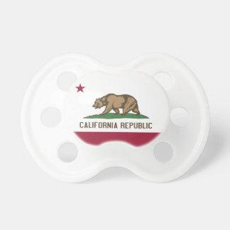 Pacificador con la bandera de California, los E.E. Chupete De Bebe