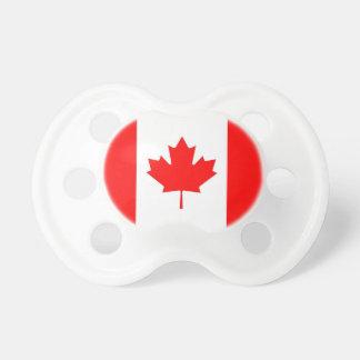 Pacificador con la bandera de Canadá Chupete De Bebe