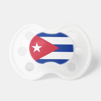 Pacificador con la bandera de Cuba Chupete De Bebé