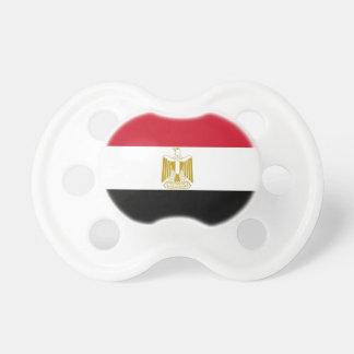 Pacificador con la bandera de Egipto Chupetes