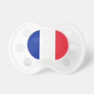Pacificador con la bandera de Francia Chupete De Bebé