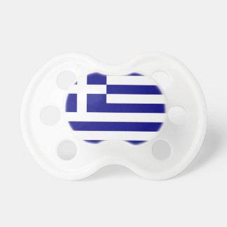 Pacificador con la bandera de Grecia Chupetes