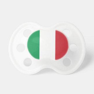 Pacificador con la bandera de Italia Chupetes De Bebe